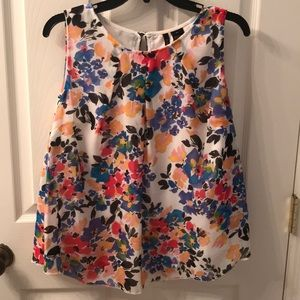 New Directions floral Sleeveless Blouse